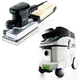 Festool P36567696 Orbital Finish Sander with CT 36 E 9.5 Gallon HEPA Mobile Dust Extractor
