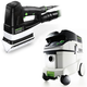 Festool P36567852 Duplex Linear Detail Sander with CT 36 E 9.5 Gallon HEPA Mobile Dust Extractor