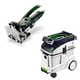 Festool P48574332 Domino Mortise and Tenon Joiner with CT 48 E 12.7 Gallon HEPA Dust Extractor