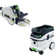 Festool PAC561556 Plunge Cut Circular Saw with CT 36 AC AutoClean 9.5 Gallon Mobile Dust Extractor