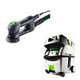 Festool PI571823 Rotex 3-1/2 in. Multi-Mode Sander with CT MIDI HEPA 3.3 Gallon Mobile Dust Extractor