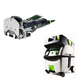 Festool PI574332 Domino Mortise and Tenon Joiner with CT MIDI HEPA 3.3 Gallon Mobile Dust Extractor