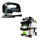 Festool PN561608 Carvex D-Handle Jigsaw with CT MINI HEPA 2.6 Gallon Mobile Dust Extractor
