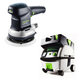 Festool PN571903 6 in. Random Orbital Finish Sander with CT MINI HEPA 2.6 Gallon Mobile Dust Extractor