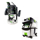 Festool PI574354 Router with CT MIDI HEPA 3.3 Gallon Mobile Dust Extractor