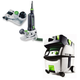 Festool PI574368 Modular Trim Router with CT MIDI HEPA 3.3 Gallon Mobile Dust Extractor