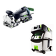 Festool PI574422 Domino XL Joiner with CT MIDI HEPA 3.3 Gallon Mobile Dust Extractor