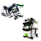 Festool PI574447 Domino XL Joiner Set with CT MIDI HEPA 3.3 Gallon Mobile Dust Extractor