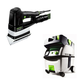 Festool PI567852 Duplex Linear Detail Sander with CT MIDI HEPA 3.3 Gallon Mobile Dust Extractor