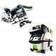 Festool PN574447 Domino XL Joiner Set with CT MINI HEPA 2.6 Gallon Mobile Dust Extractor