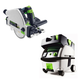 Festool PN561556 Plunge Cut Circular Saw with CT MINI HEPA 2.6 Gallon Mobile Dust Extractor