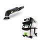 Festool PI567856 Deltex Detail Sander with CT MIDI HEPA 3.3 Gallon Mobile Dust Extractor