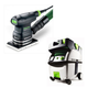 Festool PI567863 Orbital Finish Sander with CT MIDI HEPA 3.3 Gallon Mobile Dust Extractor