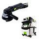 Festool PI570789 4-1/2 in. Rotary Sander with CT MIDI HEPA 3.3 Gallon Mobile Dust Extractor