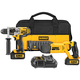 Factory Reconditioned Dewalt DCK292L2R 20V MAX Cordless Lithium-Ion 1/2 in. Hammer Drill and Reciprocating Saw Combo Kit
