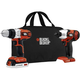 Black & Decker BDCD220IA-1 20V MAX Cordless Lithium-Ion 3/8 in. Drill Driver & Impact Driver Combo Kit with 1 Battery Pack