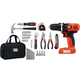 Black & Decker LDX172PK 7.2V Cordless Lithium-Ion Drill and Project Kit