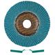 Metabo 656393000-10 4-1/2 in. ZA60 Type 29 Zirconia Alumina High Density Flap Discs (10-Pack)