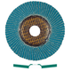 Metabo 656396000-10 7 in. ZA60 Type 29 Zirconia Alumina High Density Flap Discs (10-Pack)
