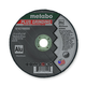 Metabo 616749000-25 5 in. x 1/4 in. A36M Type 27 Depressed Center Grinding Wheels (25-Pack)