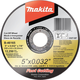 Makita B-46165 5 in. x .032 in. x 7/8 in. Ultra Thin Cut-Off Grinding Wheel