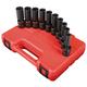 Sunex 3660 10-Piece 3/8 in. Drive Metric Universal Deep Impact Socket Set