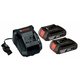 Bosch SKC181-02 18V 2 Ah Lithium-Ion Slim Battery (2-Pack) and Charger Kit