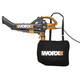 Worx WG505 12 Amp Single Speed TriVac Handheld Electric Blower Mulcher Vac