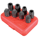 Sunex Tools 2841 8-Piece 1/2 in. Drive Pipe Plug Impact Socket Set