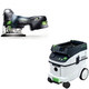 Festool PAC561668 Carvex 18V Cordless Lithium-Ion Barrel Grip Jigsaw with CT 36 AC 9.5 Gallon Mobile Dust Extractor