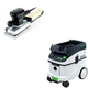 Festool PAC567696 Orbital Finish Sander with CT 36 AC 9.5 Gallon Mobile Dust Extractor