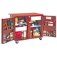 JOBOX 675990 Rolling Work Bench with 2 Drawers, 2 Shelves & 4 in. Casters