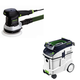 Festool P48571903 6 in. Random Orbital Finish Sander with CT 48 E 12.7 Gallon HEPA Dust Extractor