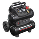 Factory Reconditioned Rockworth RW1504ST2-CP 1.5 HP 4 Gallon Oil-Free Twin-Stack Air Compressor (Black)