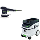 Festool PAC571916 6 in. Random Orbital Finish Sander with CT 36 AC AutoClean 9.5 Gallon Mobile Dust Extractor