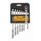 Bostitch BTMT72271 8-Piece FLEX Combination Anti-Slip SAE Ratcheting Wrench Set