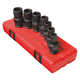 Sunex Tools 2655 7-Piece 1/2 in. Drive Metric Universal Impact Socket Set