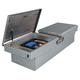JOBOX PAC1598000 Aluminum Rear-Hinged Dual Lid Full-size Crossover Truck Box (Bright)