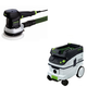 Festool P26571903 6 in. Random Orbital Finish Sander with CT 26 E 6.9 Gallon HEPA Dust Extractor