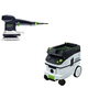 Festool P26571916 6 in. Random Orbital Finish Sander with CT 26 E 6.9 Gallon HEPA Dust Extractor
