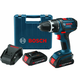 Factory Reconditioned Bosch DDS180-02-RT 18V Cordless Lithium-Ion Compact Tough 1/2 in. Drill Driver Kit with 2 Slim Pack Batteries