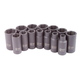 Sunex 3328 14-Piece 3/8 in. Drive Metric Mid-Depth Impact Socket Set