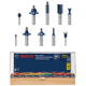 Bosch RBS010 All-Purpose Professional Carbide-Tipped 10-Piece Router Bit Set