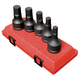 Sunex 4507 5-Piece 3/4 in. Hex Drive Metric Impact Socket Set
