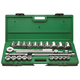 SK Hand Tool 4725 25-Piece 3/4 in. Drive 12-Point SAE Standard Socket Set