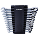 KT PRO A12103SR 11-Piece 12-Point SAE Combination Speed Wrench Set with Holder