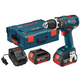 Factory Reconditioned Bosch HDS182-01L-RT 18V Cordless Lithium-Ion 1/2 in. Brushless Compact Tough Hammer Drill Driver Kit with L-BOXX 2 Case