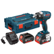 Factory Reconditioned Bosch IWBH182-01L-RT 18V Cordless Lithium-Ion 1/2 in. Pin Detent Brushless Impact Wrench Kit with L-BOXX 2 Case