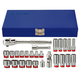 KT PRO A3005SR 26-Piece 3/8 in. Drive 12/6-Point SAE Standard and Deep Socket Set