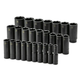 SK Hand Tool 4047 26-Piece 1/2 in. Drive 6-Point Metric Deep Impact Socket Set